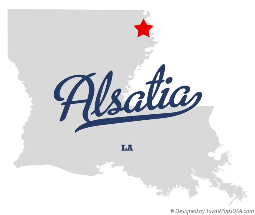 Map of Alsatia Louisiana LA