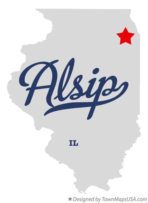 Map of Alsip Illinois IL