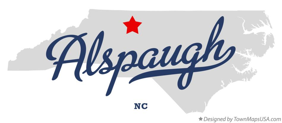 Map of Alspaugh North Carolina NC