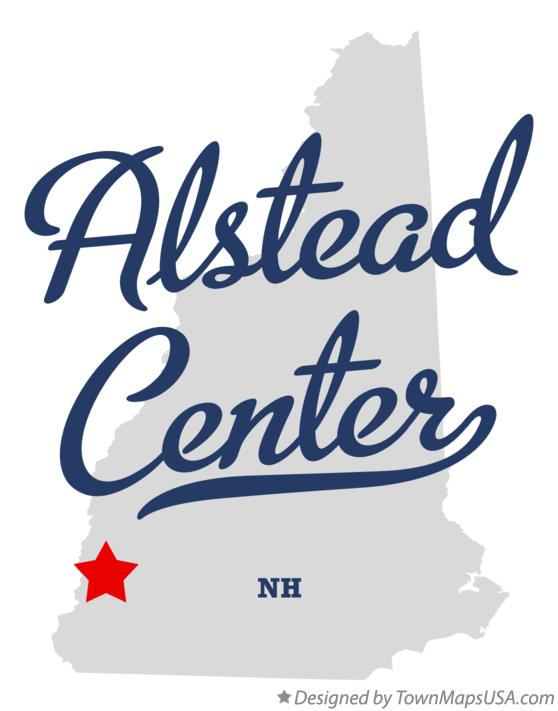 Map of Alstead Center New Hampshire NH