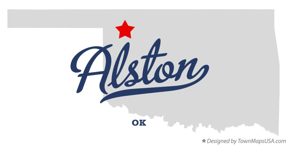 Map of Alston Oklahoma OK