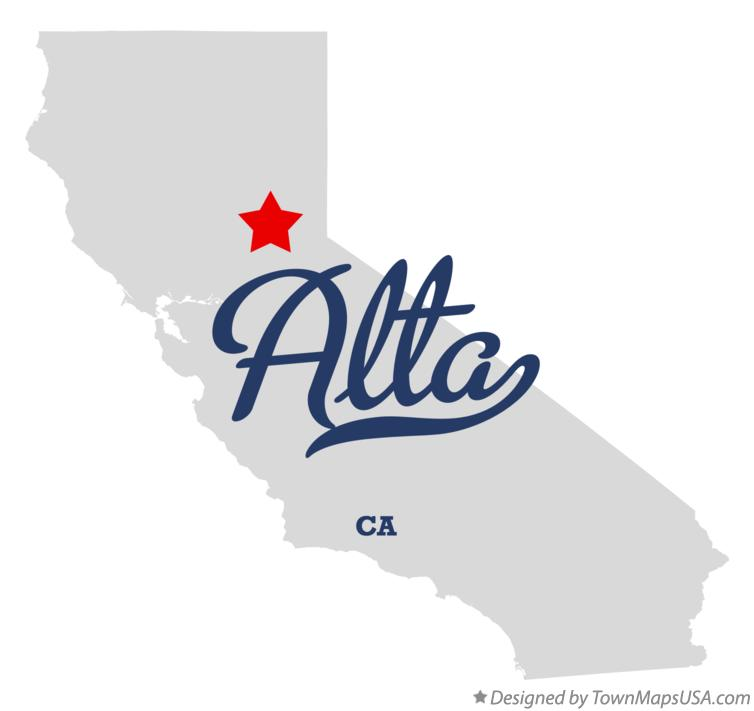 Map of Alta California CA