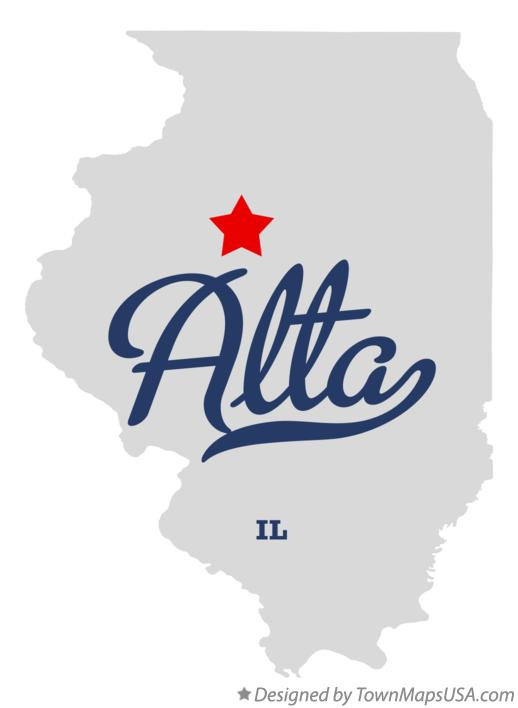 Map of Alta Illinois IL