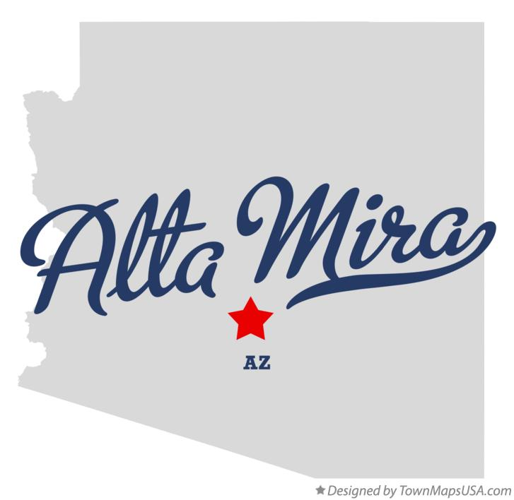 Map of Alta Mira Arizona AZ