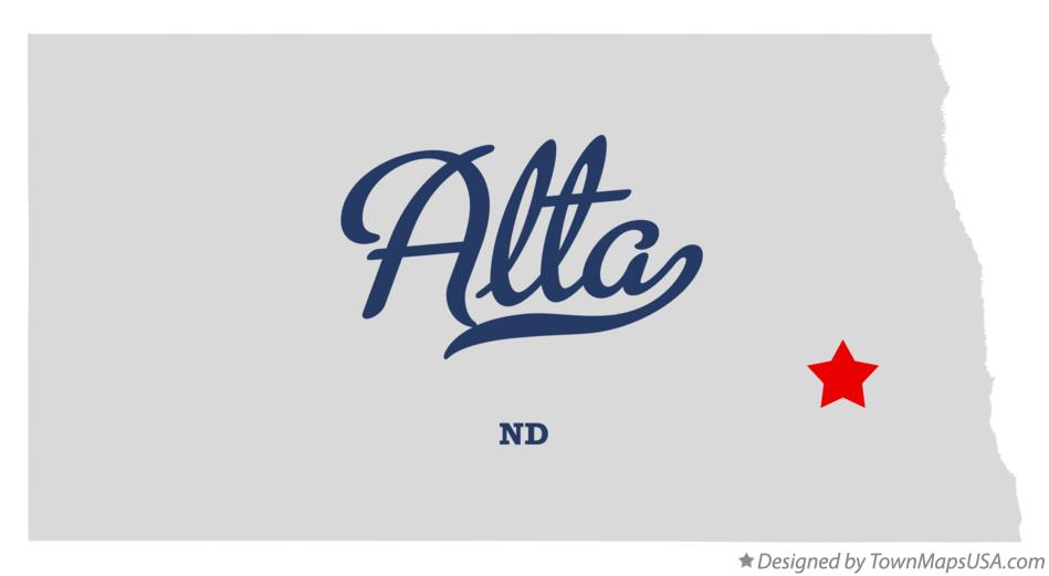 Map of Alta North Dakota ND
