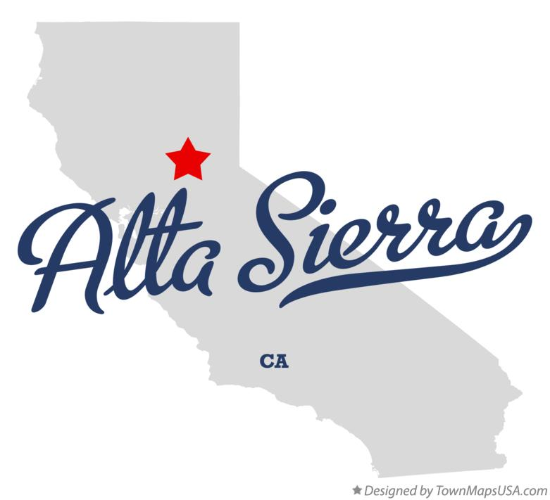 Map of Alta Sierra California CA