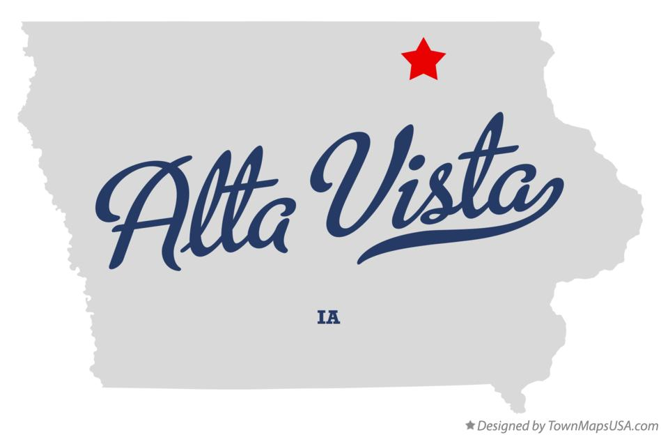 Map of Alta Vista Iowa IA