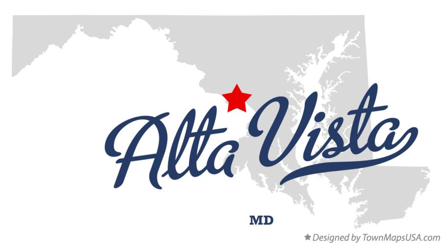 Map of Alta Vista Maryland MD