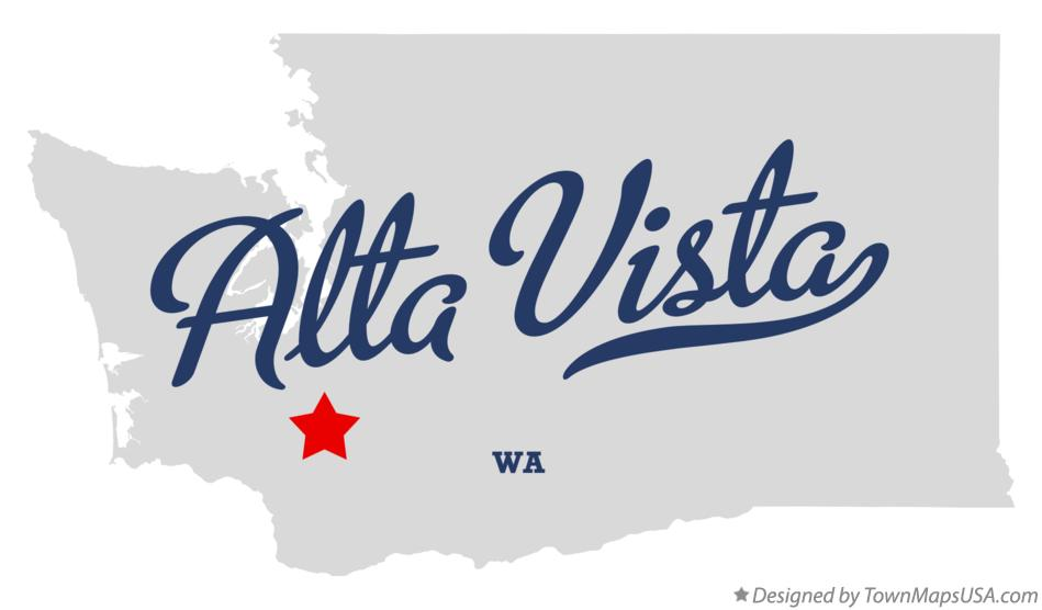 Map of Alta Vista Washington WA