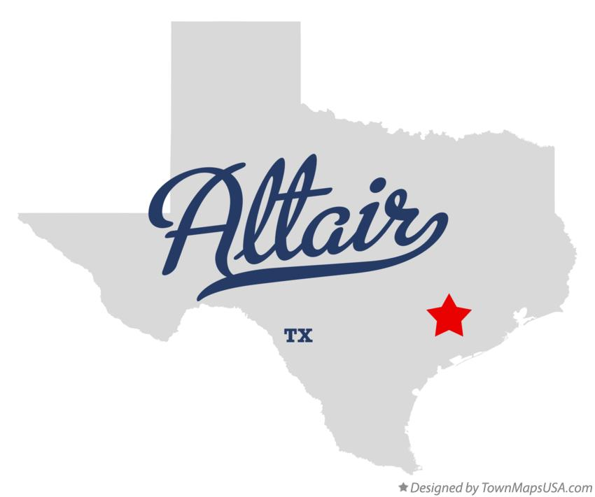 Map of Altair Texas TX