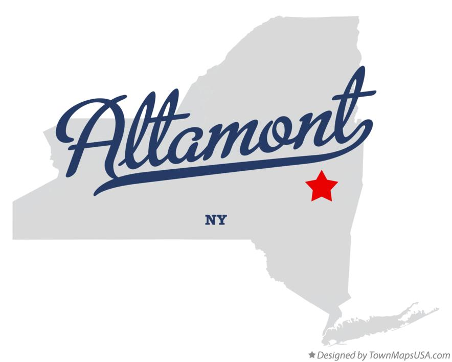 Map of Altamont New York NY