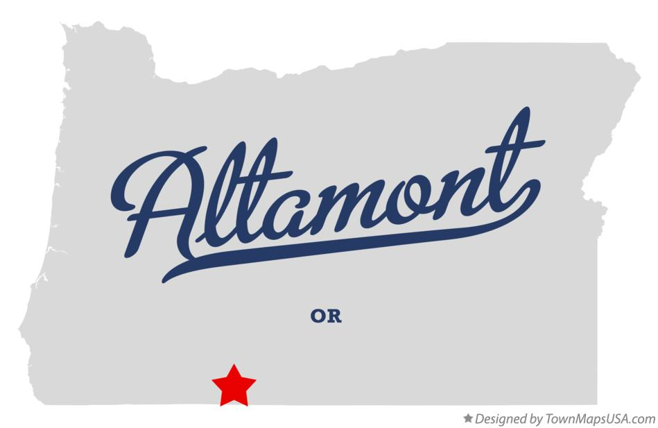 Map of Altamont Oregon OR