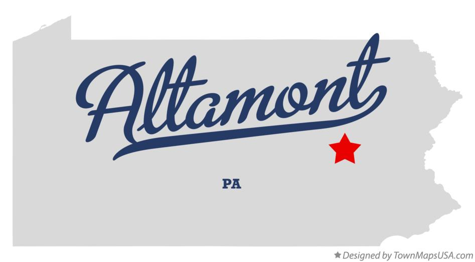 Map of Altamont Pennsylvania PA