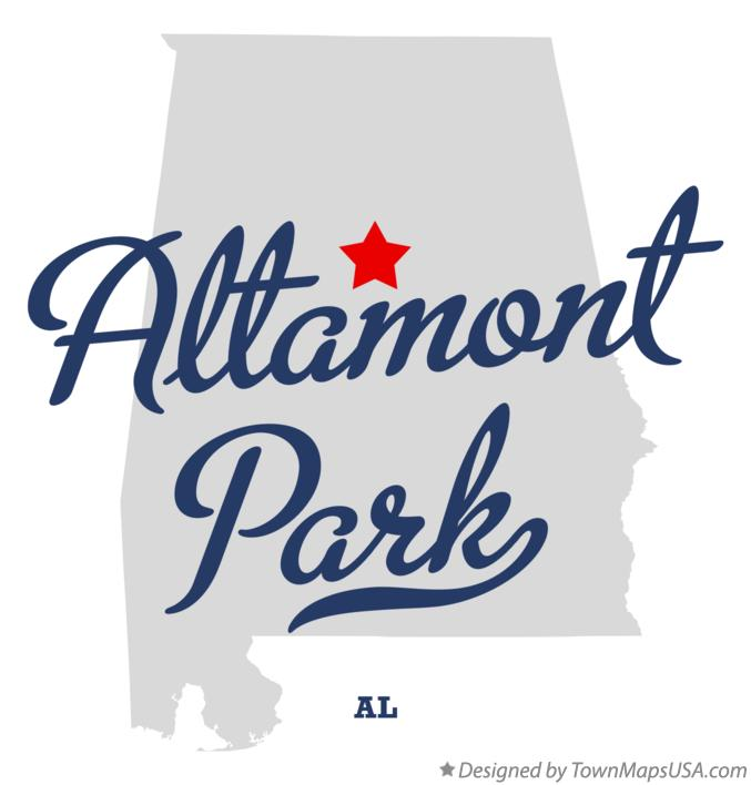 Map of Altamont Park Alabama AL