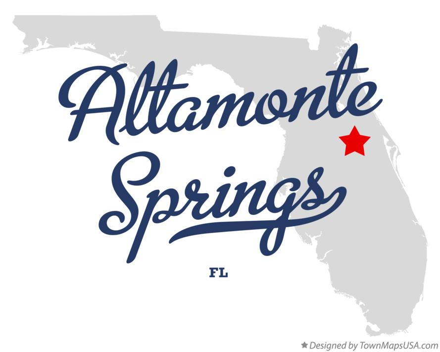 Map of Altamonte Springs Florida FL