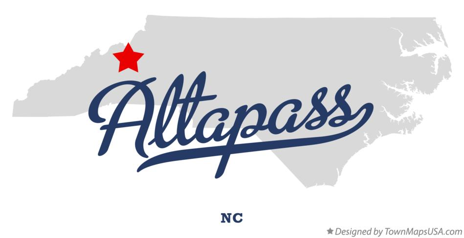 Map of Altapass North Carolina NC