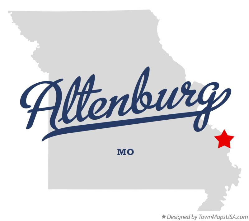 Map of Altenburg Missouri MO