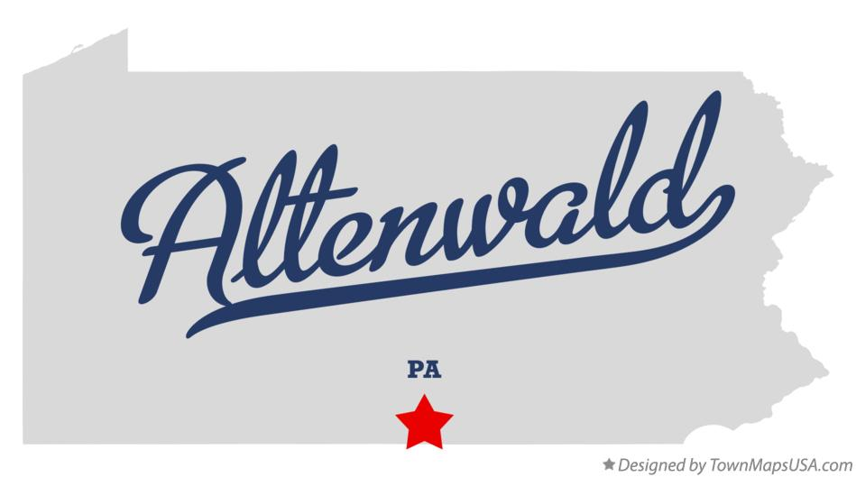 Map of Altenwald Pennsylvania PA