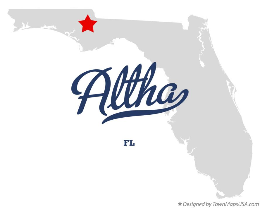 Map of Altha Florida FL