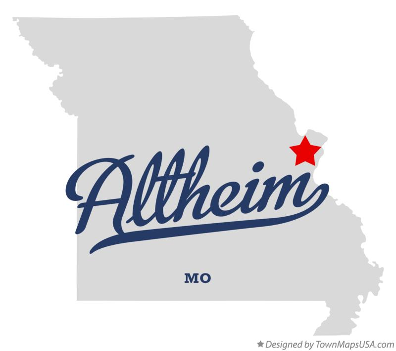 Map of Altheim Missouri MO