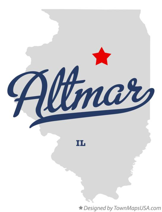 Map of Altmar Illinois IL