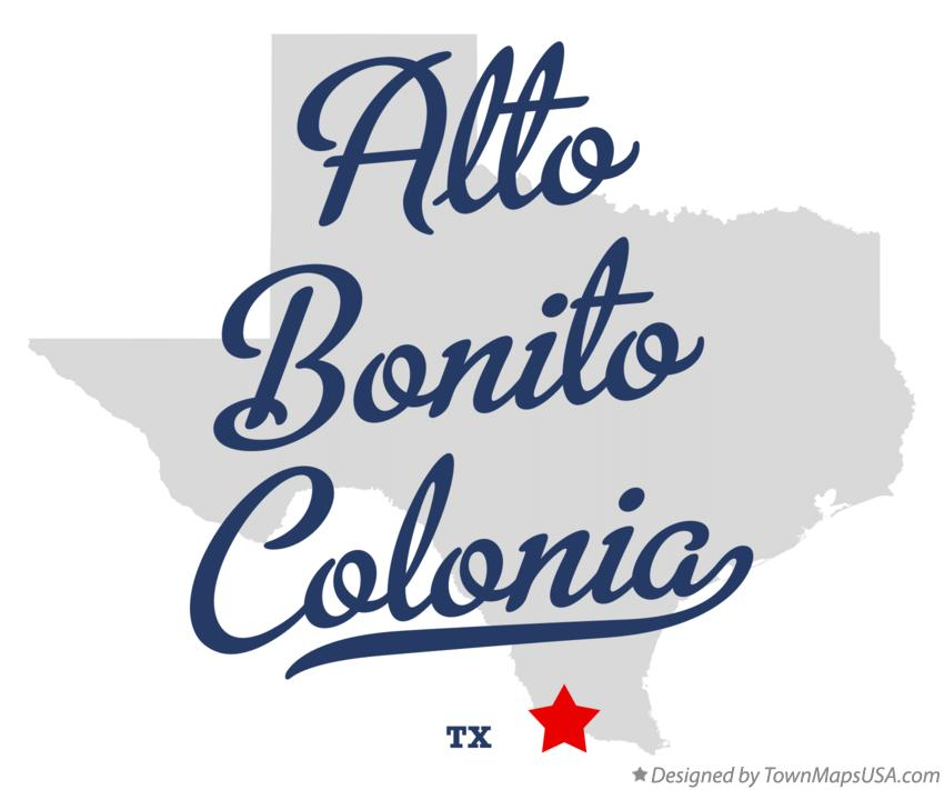 Map of Alto Bonito Colonia Texas TX