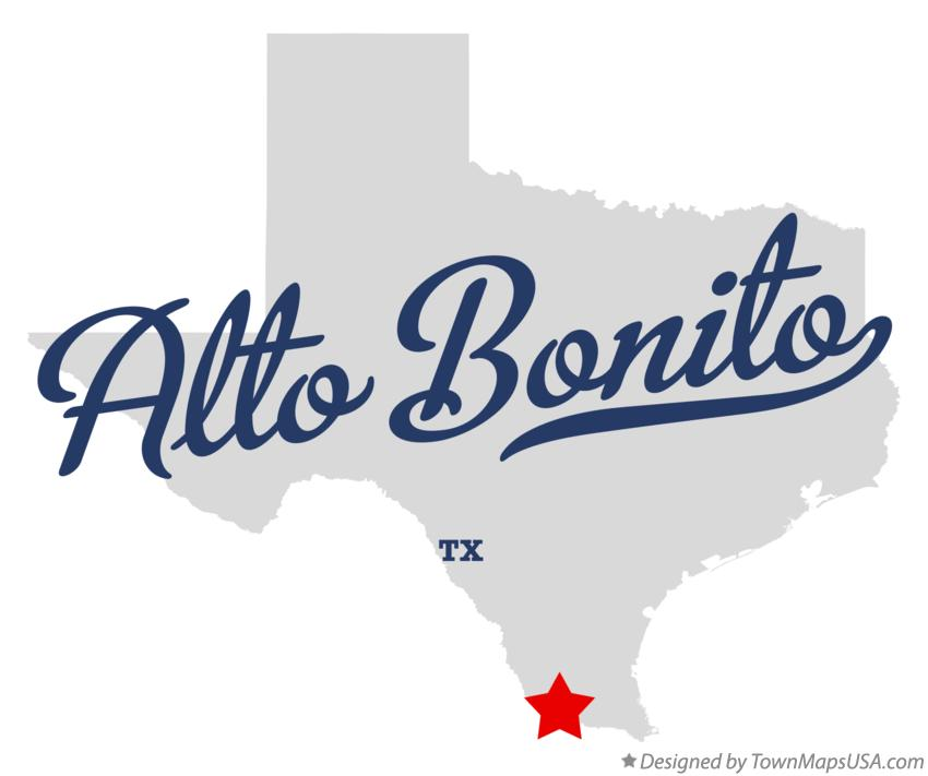 Map of Alto Bonito Texas TX