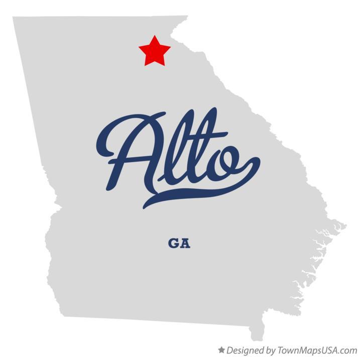 Map of Alto, GA, Georgia