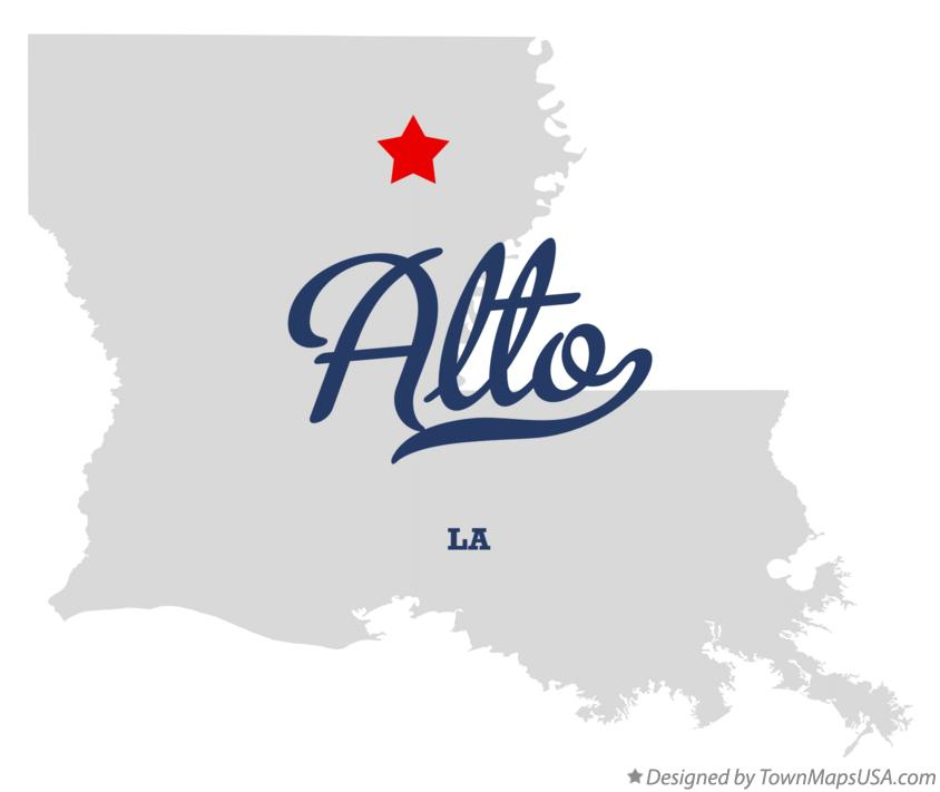 Map of Alto Louisiana LA