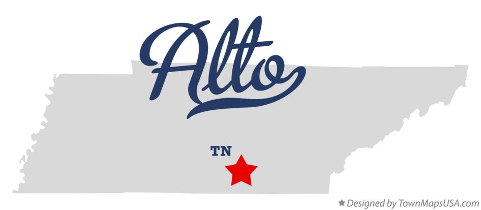 Map of Alto Tennessee TN