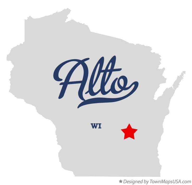 Map of Alto Wisconsin WI