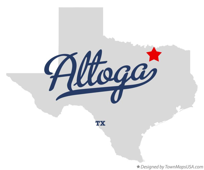 Map of Altoga Texas TX