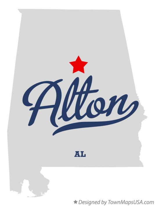 Map of Alton Alabama AL