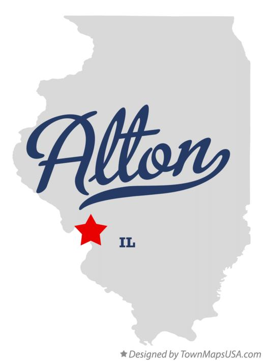 Map of Alton Illinois IL