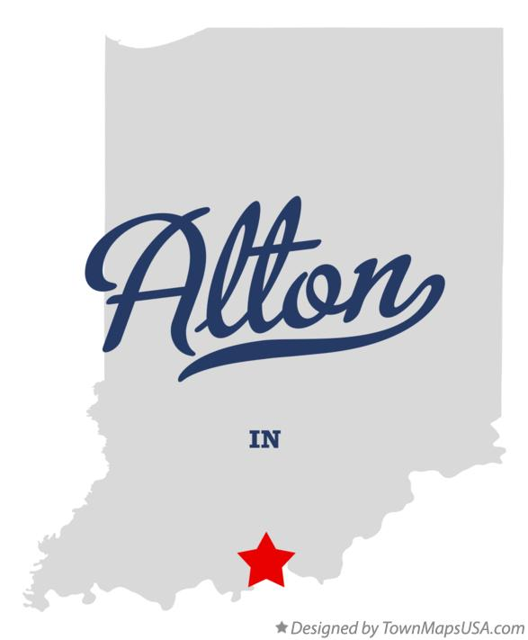 Map of Alton Indiana IN