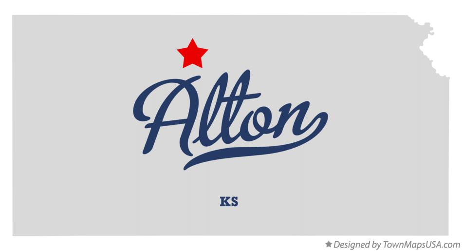 Map of Alton, KS, Kansas