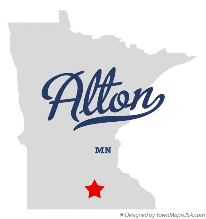 Map of Alton Minnesota MN