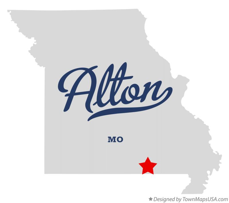 Map of Alton Missouri MO