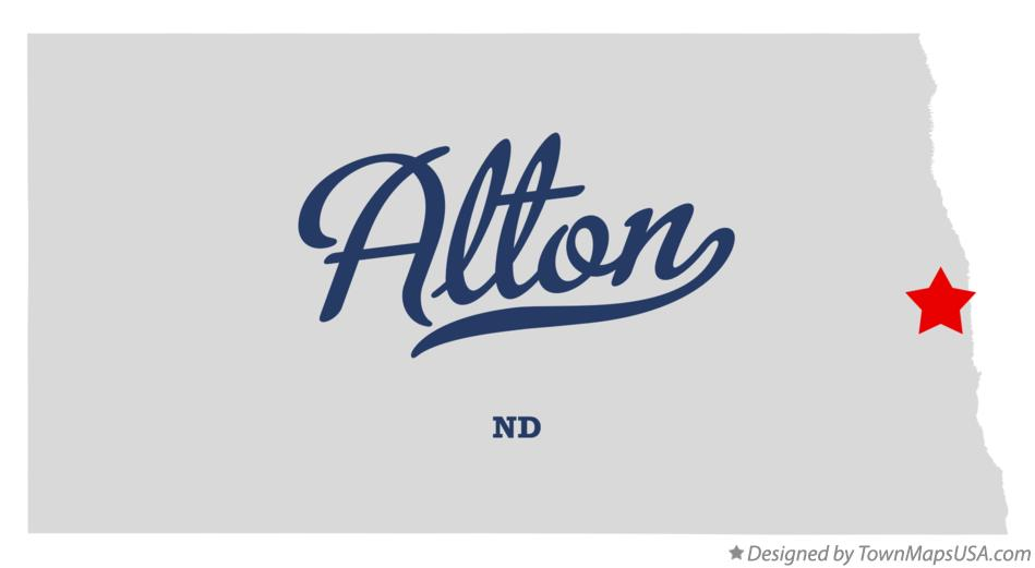 Map of Alton North Dakota ND