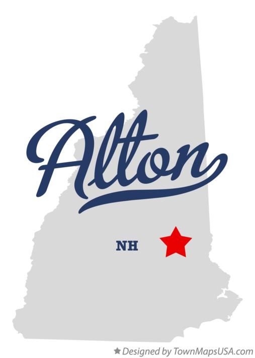 Map of Alton New Hampshire NH