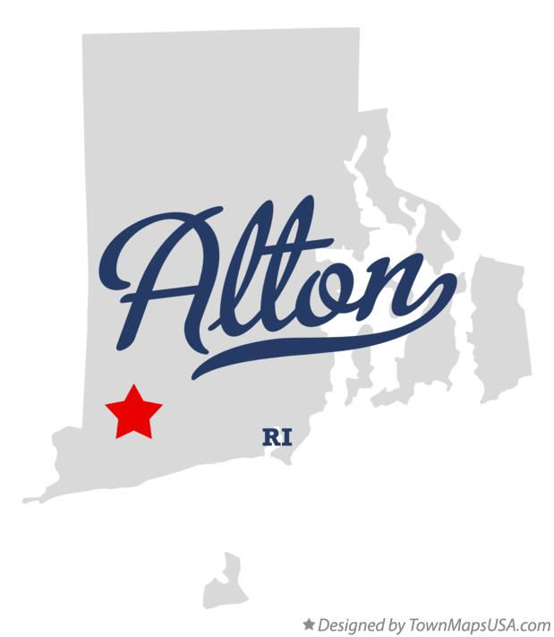 Map of Alton Rhode Island RI