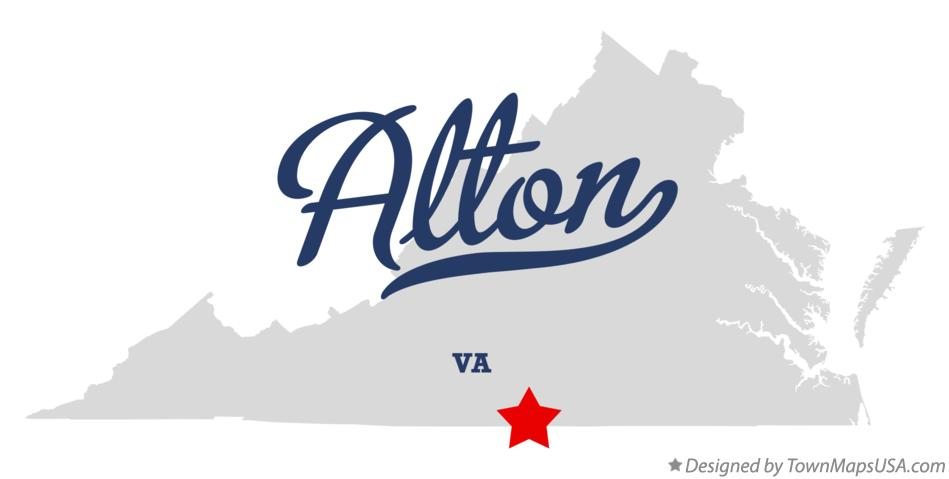 Map of Alton Virginia VA