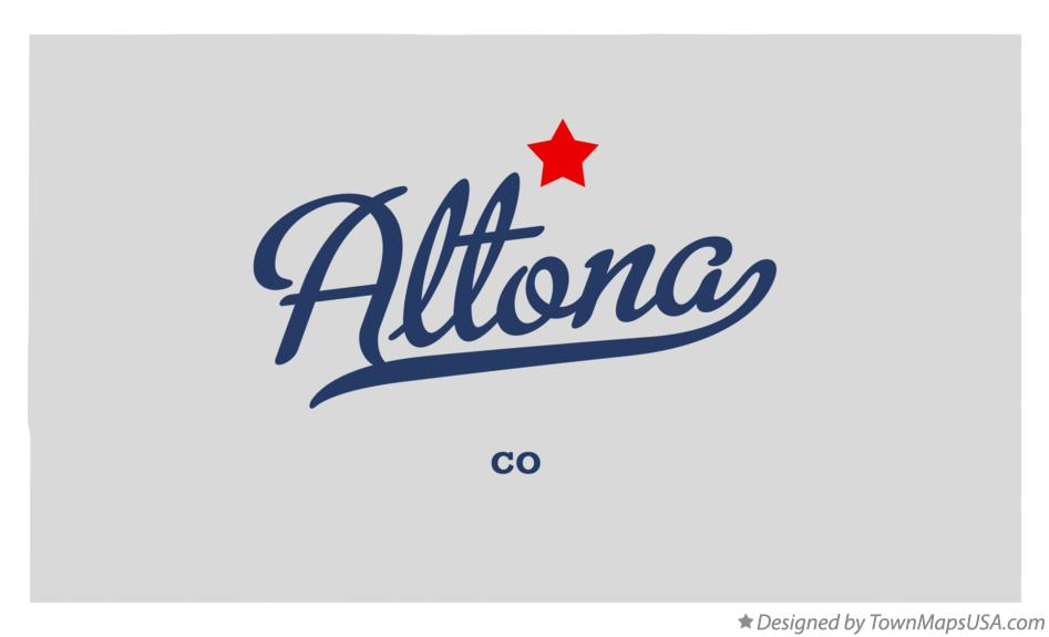 Map of Altona Colorado CO