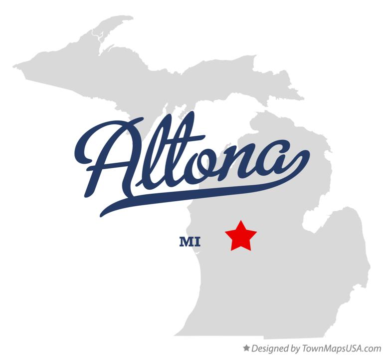 Map of Altona Michigan MI