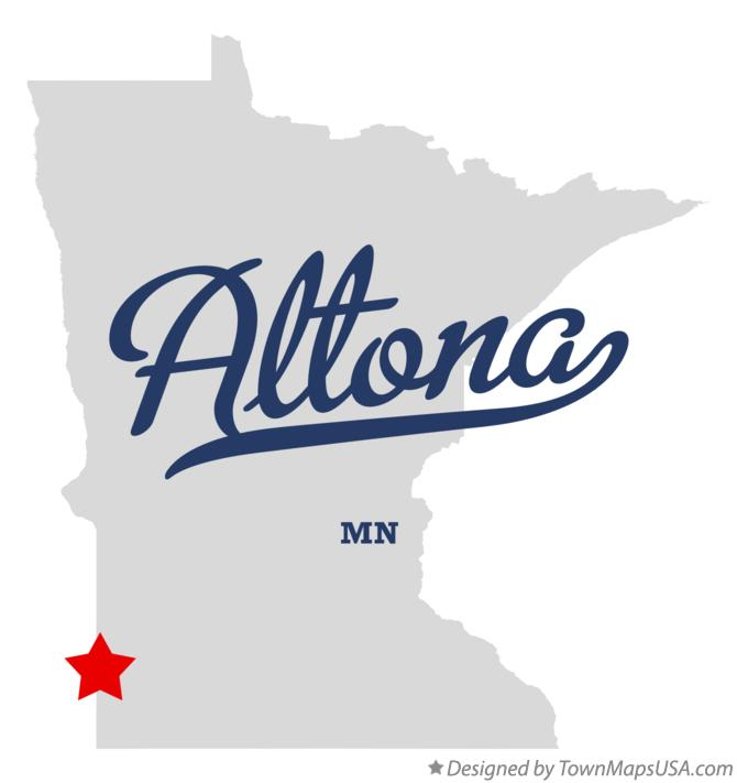 Map of Altona Minnesota MN