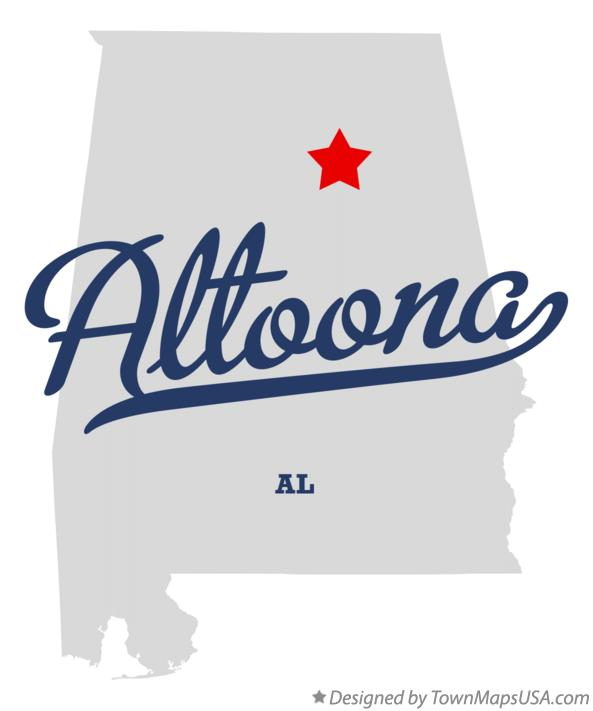 Map of Altoona Alabama AL