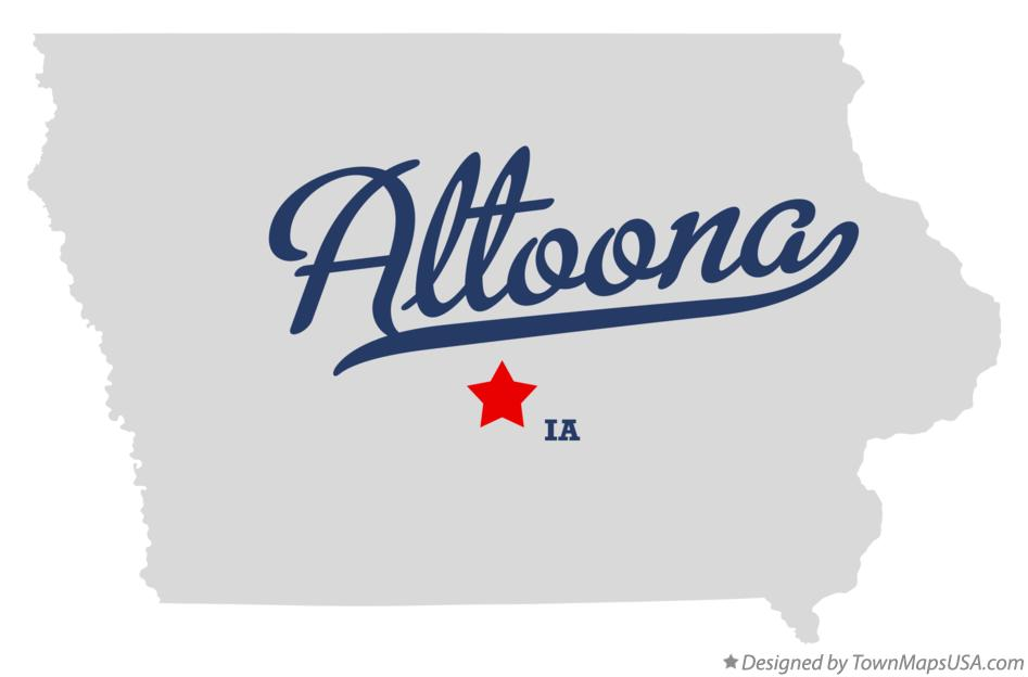 Map of Altoona Iowa IA