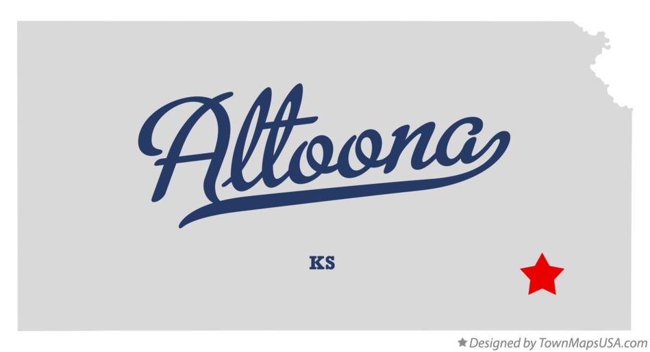 Map of Altoona Kansas KS