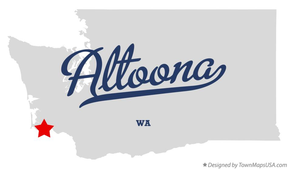 Map of Altoona Washington WA