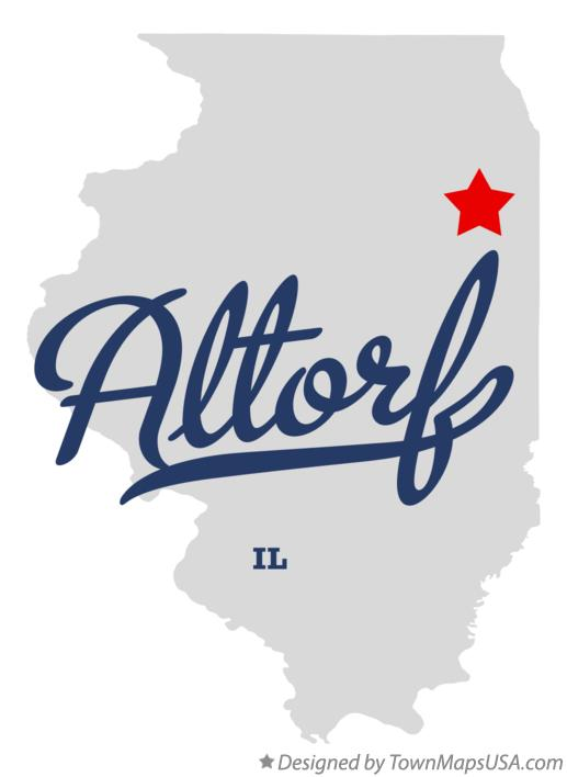 Map of Altorf Illinois IL